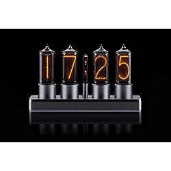 ZIN18 Nixie Tube Clock Classic Silver Aluminium Case WiFi Android/iPhone Setup