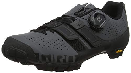 Giro Code Techlace MTB, Zapatos de Bicicleta de montaña Hombre, Multicolor (Dark Shadow/Black 000), 41 EU