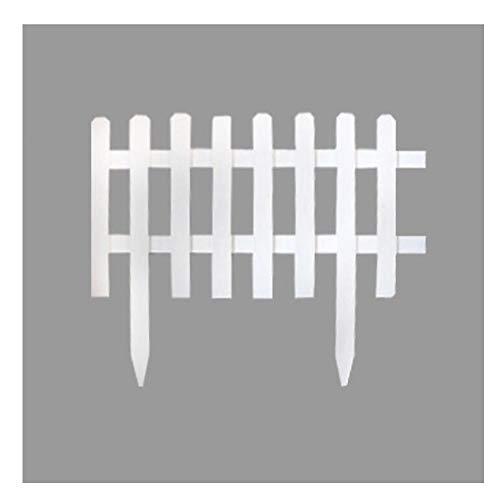 YYFANG Gartenzaun Holz Steckbarer Weißer Holzzaun Korrosionsbeständiger Prozess Hochtemperatur-Karbonisierung Getrennter Weltraum-Pflanzenschutz, 5 Größen (Color : White, Size : 103x90cm)