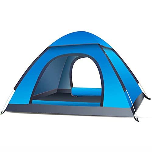 AMAZOM Tenda da Campeggio, Tenda Familiare Impermeabile con Parapioggia Rimovibile E Borsa per Il Trasporto, Tenda Leggera per Campeggio, Viaggi, Zaino in Spalla, Escursionismo,Blu
