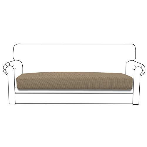 Easy-Going Funda de cojín elástica para sofá o sofá, funda de sofá, suave y flexible con parte inferior elástica (cojín de sofá, color natural)