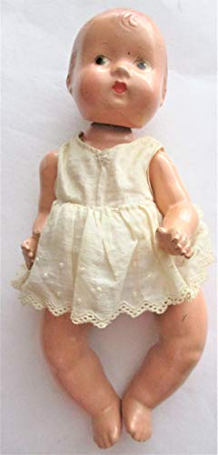 """Effanbee 1932 Vintage Composition 7"""" Patsy Baby Tinyette Doll in Original Outfit"""