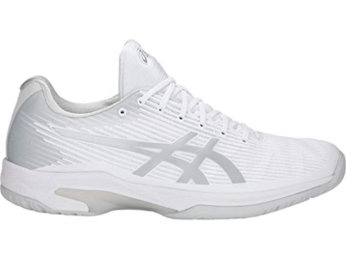 ASICS Men's Solution Speed FF Tennis Shoes, 8M, White/Silver