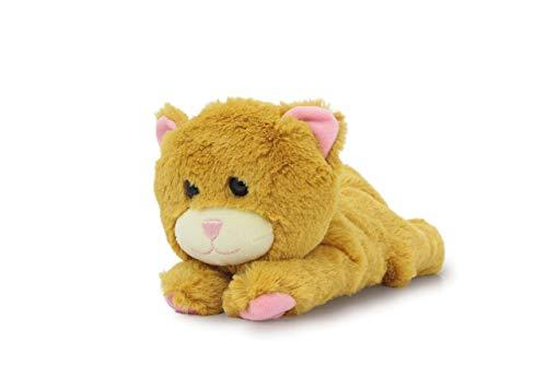 JAMARA 460489 - Clampy Katze-mit integriertem Schnapparmband zum Klammern an Handgelenk, Tasche, Kinderwagen-super weiches Plüschfell, Ideal zum kuscheln und liebhaben, braun