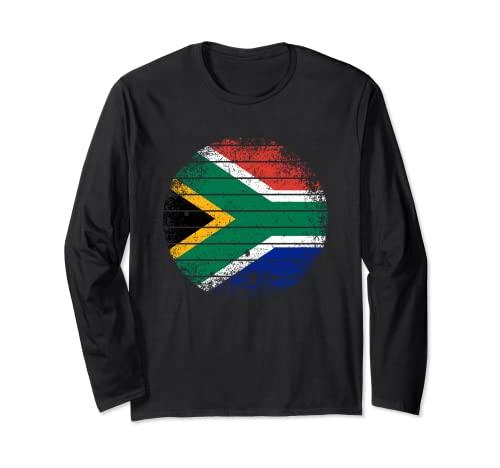 Sudáfrica Vintage Sudafricana Bandera áspero Manga Larga