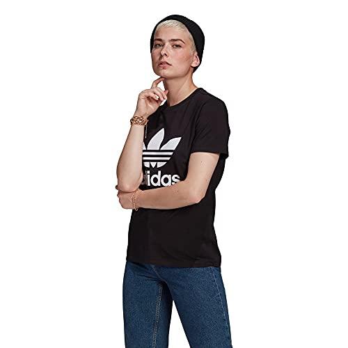adidas GN2896 Trefoil Tee T-Shirt Donna Black 40