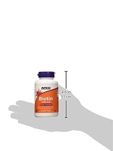 [海外直送品]ナウフーズビオチン(ビタミンH)5mg120カプセル
