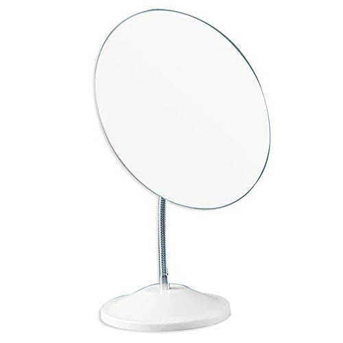 SESEAT Mirror with Stand 65x76inch 360° Rotation Adjustable Flexible Desk Table Makeup Mirror Larger Vanity Cosmetic Mirror Round for Beauty Gifts