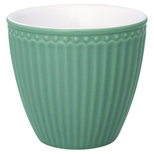 GreenGate - Latte Cup - Kaffeebecher - Becher - Alice - Keramik - Dusty Green/Rauch grün - 300 ml