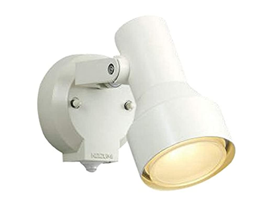 白鳥関連付ける悲しいコイズミ照明 人感センサ付スポットライト タイマー付ON-OFFタイプ 散光 白熱球100W相当 オフホワイト塗装 AU40621L