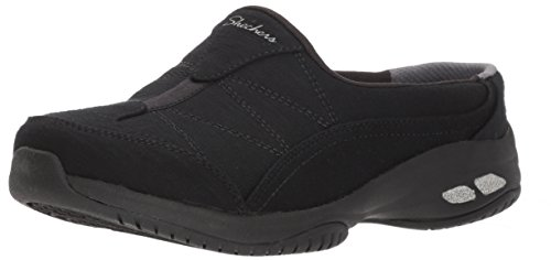 Skechers Damen Commute-Carpool-Heathered Deco Stitch Pantolette, schwarz/schwarz, 6 M US