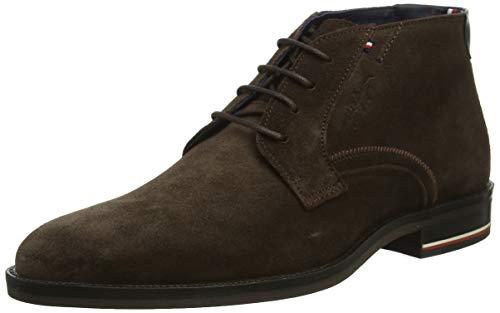 Tommy Hilfiger Herren Signature Hilfiger Suede Boot Klassische Stiefel, Braun (Coffee Bean 212), 42 EU