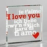 I Love You In Every Language - Romantic Spaceform Token - Sentimental, Pocket Size Keepsake - Birthday. Christmas, Valentine's Day Gift