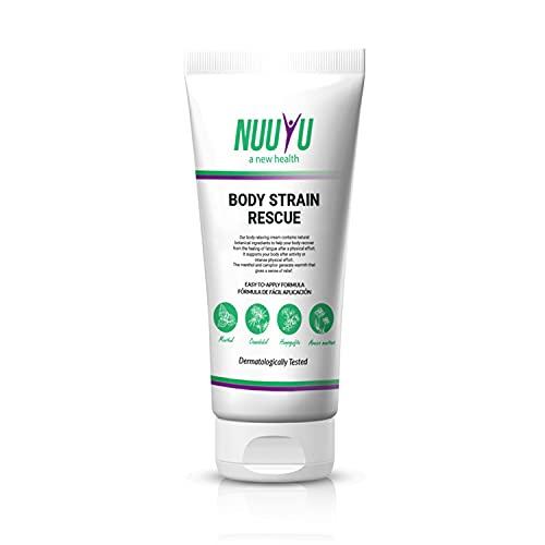 Nuuyu - Body Strain Rescue con Aceite - Presentación 200 ml - Con Aceite Vegetal de origen Orgánico - Ayuda a Calmar las Molestias Corporales