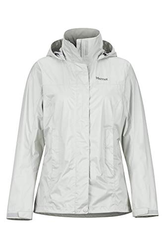 Marmot Damen Hardshell Regenjacke, Winddicht, Wasserdicht, Atmungsaktiv Wm's PreCip, Platinum, M, 46700