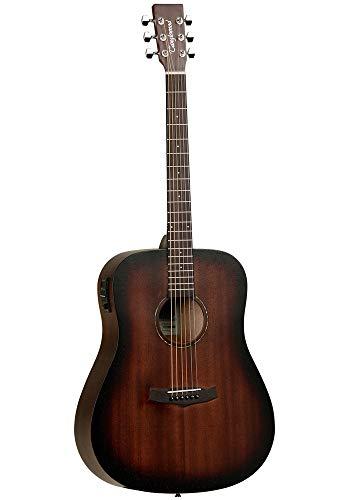 Tanglewood TWCRDE - Guitarra acústica electrificada, acabado satinado, natural, 4/4