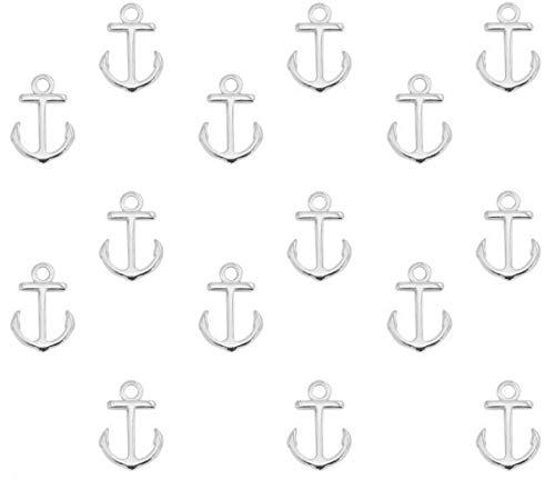 Sadingo metalen hanger anker van DQ metaal, hanger armband, macramé - 15x10 mm - grote verpakking - kleur/aantal naar keuze