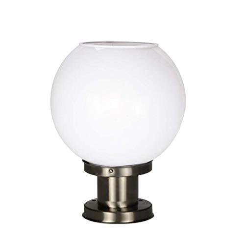 Solarpalen, zeer helder, voor buiten, waterbestendig, koplampen, rond, lampenkap, wandlamp, lamp, villa, terras, deur, zuil.