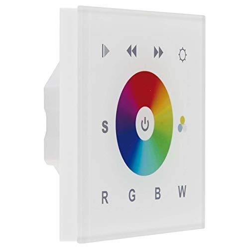 EVN Lichttechnik DMX RGBW-Controller Panel DMX-WP-RGB+W-ws für Wandeinbau Steuergerät für Leuchten 4037293010597