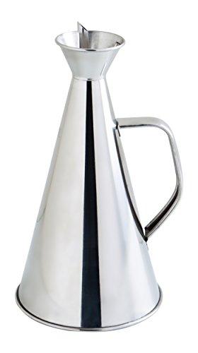 Quid Aceitera Antigoteo INOX 75Cl Renova, 4.39 litros, Acero Inoxidable, transparente