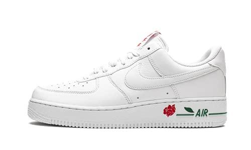 Nike Air Force 1 '07 LX, Zapatillas de bsquetbol Hombre, White White Univ Red Pine Green, 50.5 EU