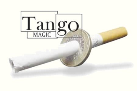 Cigarette Through (1 Euro, One Sided w/DVD)E0011 by Tango - Trick