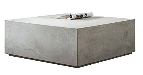 Preisvergleich Produktbild Matodi Beton Block Couchtisch Loungetisch betongrau