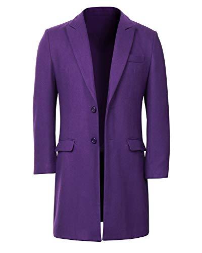 Long Purple Overcoat for Men