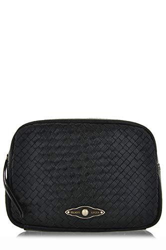 ELLIOTT LUCCA MILLANA Black Onyx Leather Clutch Bag