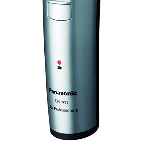 Panasonic ER1411 Electronic Professional Recharge Hair Trimmer Clipper Cordless Dual Voltage 1Hour Charge 80min ER1411s 100 240V by Panasonic