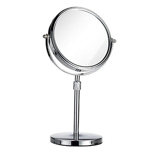 AYYEBO Espejo de vanidad, 1x 3X Tocador de Maquillaje Espejos de Aumento de Doble Cara Rotación de 360 ° - Simplicidad Elegante (Size : 8 Inch)