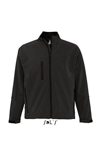 Sol'S Relax - Softshell Homme - Veste zippée à Manches Longues imperméable et Respirante - Noir - M