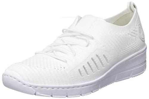 Rieker Damskie buty na wiosnę/lato 565b5, biały - biały biały biały twardy biały 81-36 EU