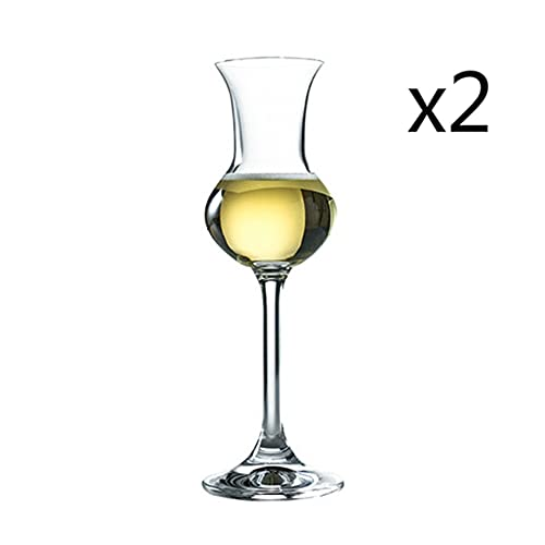 Iinger Italia RCR Crystal Copita Nasting Cobla Sherry Copas de Vino Sommeliers Whisky Whisky Oler Smell Tasting Glass Body Champagne Cup (Capacity : 80ml, Color : 2 Pcs)