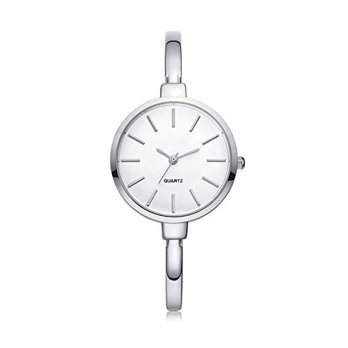 QHG Relojes de la Pulsera de Las Mujeres Rose Oro/Oro/Silver Reloj con Correa Delgada Moda de Lujo de Lujo: Relojes de Cuarzo Damas Vestido Informal Sport Reloj Reloj (Color : A)