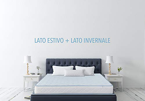 Farmarelax, Materasso Matrimoniale, con Tessuto rinfrescante, Fresh, Fresco 160x190cm, h20, Ortopedico, ergonomico,...