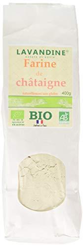 LAVANDINE Farine de Châtaigne Bio sans Gluten 400 g - Lot de 2