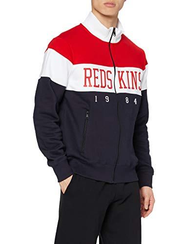 Redskins Drone Skyline Maglione, Rosso/Blu Scuro/Bianco, S Uomo