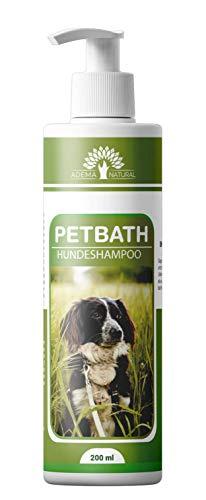 ADEMA NATURAL® PETBATH - Hundeshampoo - Shampoo für Hunde und Welpen gegen Juckreiz - bei Fellgeruch - Milben - Flöhe - Läuse - Pilz oder Fellwechsel - 200 ml