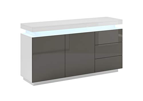 Aparador Modelo Osim Color Blanco - Todo el Mueble PVC Alto Brillo