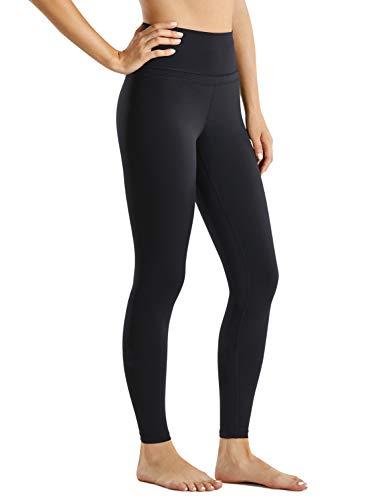 CRZ YOGA Mujer Mallas Deportivo Pantalón Elastico para Running Fitness-71cm Negro 42