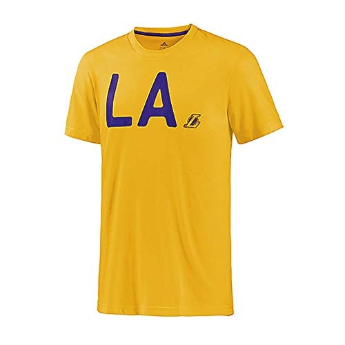 adidas Los Angeles Lakers Camiseta Lavada Amarillo S, Amarillo
