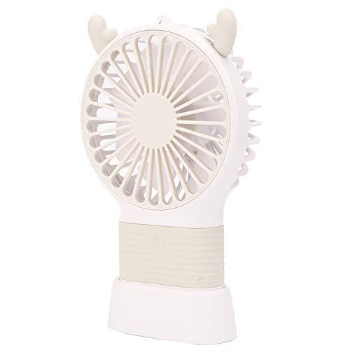 Ventilador de viaje portátil Ventilador de 3 velocidades lindo USB ventilador dormitorio para sala de estar hogar (blanco roto)