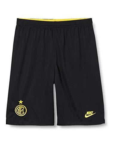Inter, Pantaloncini Sportivi Unisex Bambini, Black/Tour Yellow, S