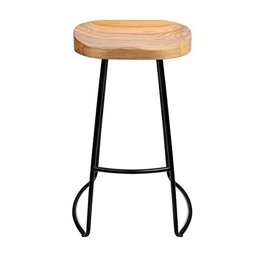 Idong barkruk met metalen buizen, poten van hout, oppervlak bistro, perfect vintage stijl, voor bars, pubs, restaurants en huis, keuken, Idong 75cm #03
