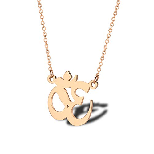 N/A Pendant necklace Gold Silver Color Symbol Pendant Necklace for Woman Men Stainless Steel Male Jewelry Christmas birthday present