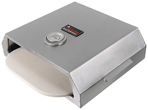 ACTIVA Pizza Box BBQ Pizza Oven with Temperature Display for Charcoal Barbecues and Gas Barbecues Pizza Oven with Pizza Stone