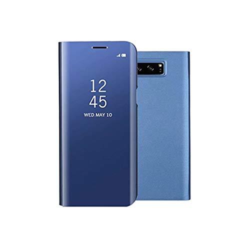 HRNAKDFKL - Custodia per telefono cellulare di lusso, con specchio trasparente, compatibile con Samsung Galaxy S6S7 Edge Note8 S8 S9 Flip Cover