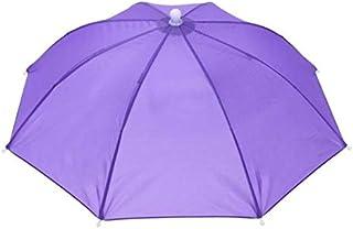 Fishing Umbrella Hat Cap Anti-Rain Headwear Handsfree Head Umbrella Anti-Sun Hat