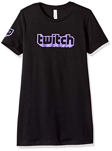 Twitch - Logo S/S Crew - Frau - Schwarz - M